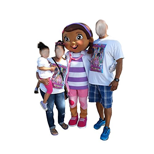 Doc McStuffins Top Mascot Costume Character Adult Party Halloween Cosplay Outfit (Doc Mcstuffins Adult Costume)