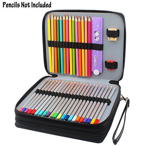 niutop 120 slots pencil case pu leather large capacity. Black Bedroom Furniture Sets. Home Design Ideas