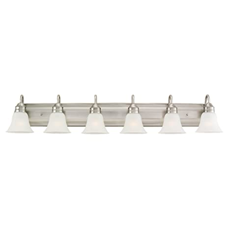 Charmant Sea Gull 44855 965 6 Light Gladstone Antique Bathroom Vanity Light, Brushed  Nickel