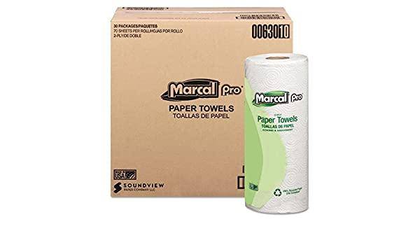 Amazon.com: Marcal(R) Sunrise Roll Towels, 80 Sheets/Roll, Case Of 30 Rolls by Marcal: Health & Personal Care