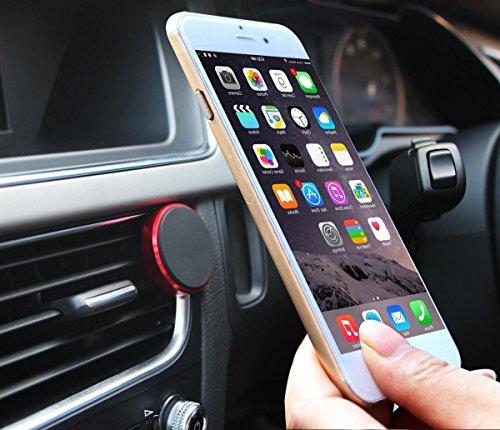 Soporte de coche universal magnético para teléfono que se monta en la rejilla de ventilación del coche, con potente imán de 360 grados derotación, compatible con smartphone, iPhone, Samsung, Nexus y  red