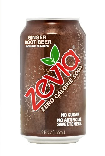 Zevia All Natural Soda, Ginger Root Beer, 12 Ounce (Pack of 24) Frustration Free Package
