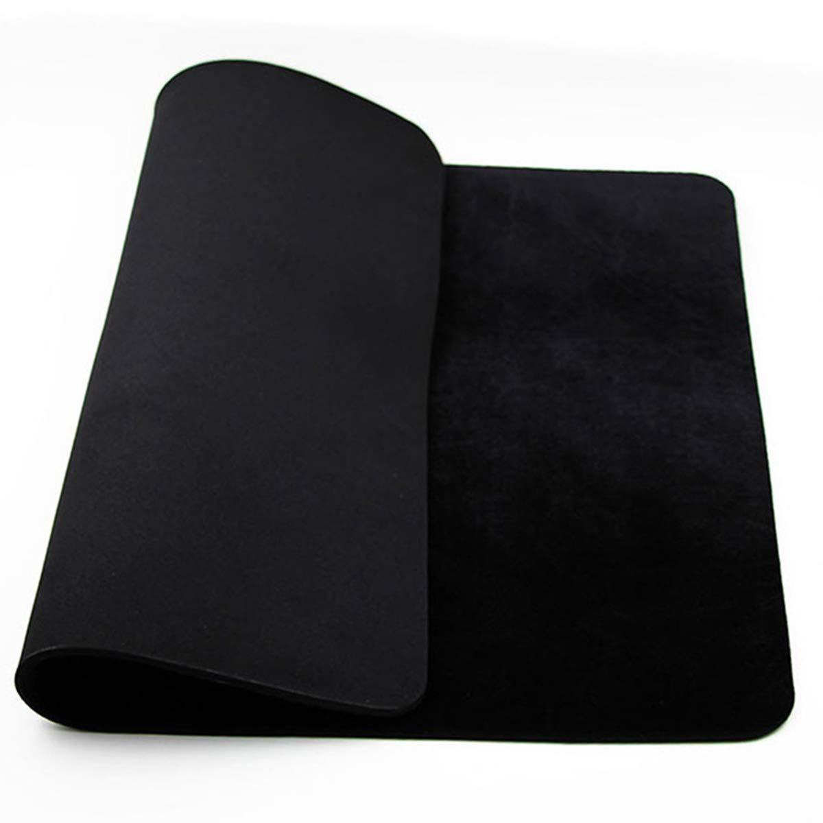 OUERMAMA Large Size 23.62'' x 15.75'' Black Professional Poker Card Deck Mat Pad Close-up Magic Accessories