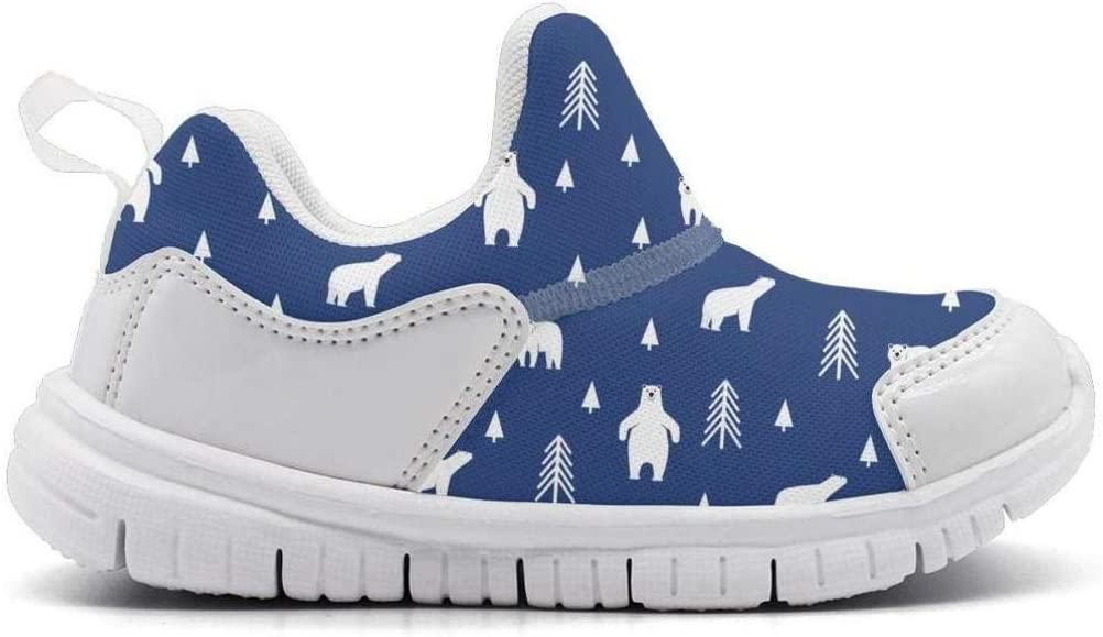 ONEYUAN Children The Polar Bear Habitat Kid Casual Lightweight Sport Shoes Sneakers Walking Athletic Shoes