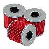 kawasaki bayou 220 oil filter - Caltric 3 PACK OIL FILTER Fits KAWASAKI BAYOU 220 KLF220 KLF-220 1988-2002