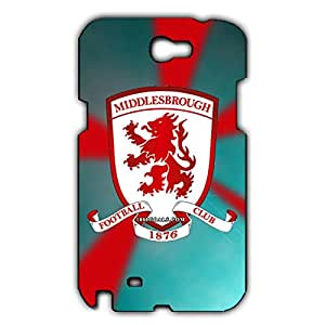 Unique Design FC Middlesbrough Football Club Phone Case Cover For Samsung Galaxy Note 2 3D Plastic Phone Case