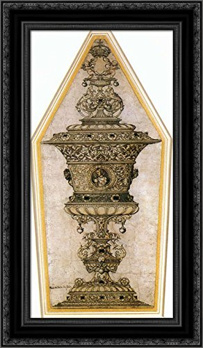 jane seymours cup 24x14 black ornate wood framed canvas art by hans holbein the younger - Wood Frames For Canvas
