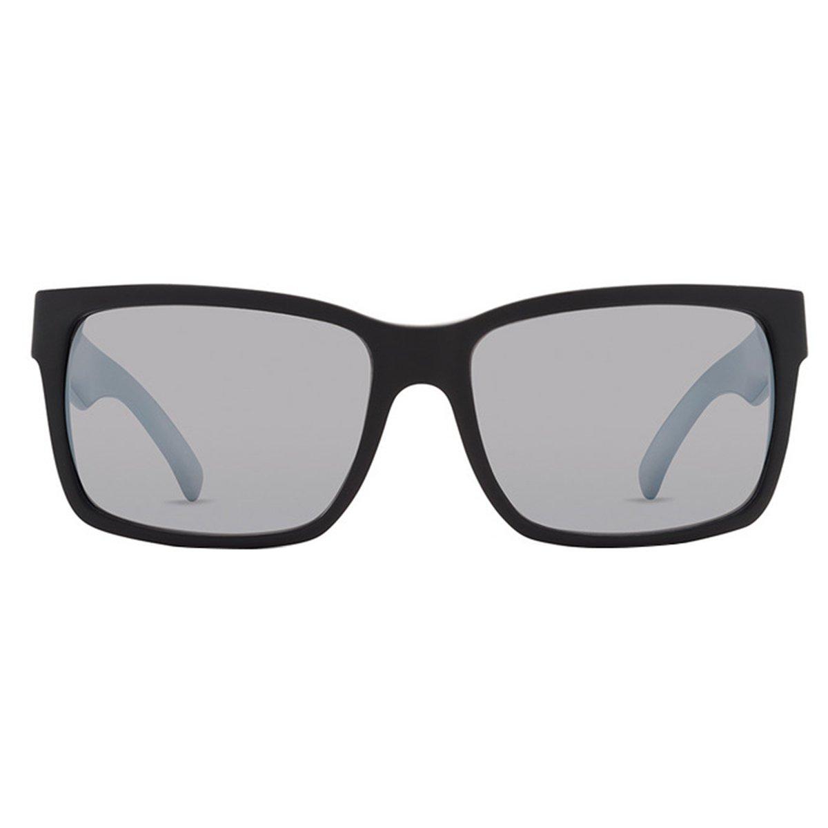 VonZipper Adults Elmore Sunglasses, Black Silver Lens One Size