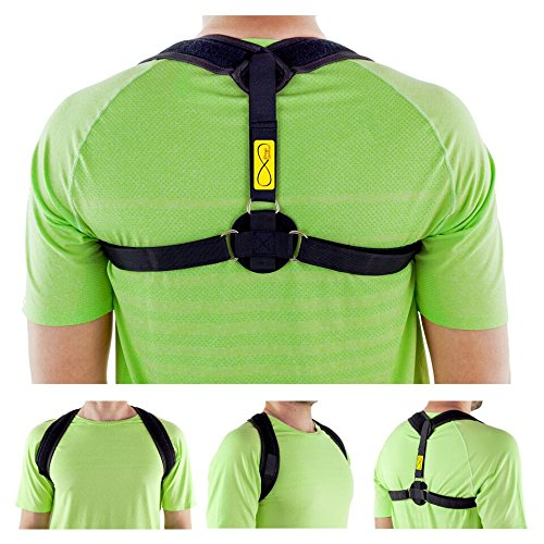 Posture Corrector for Women & Men + Stress Ball INCLUDED - Clavicle Brace Adjustable - Posture Back Brace for Improve Bad Posture COMFORTABLE, EASY TO WEAR by Prego Unlimited