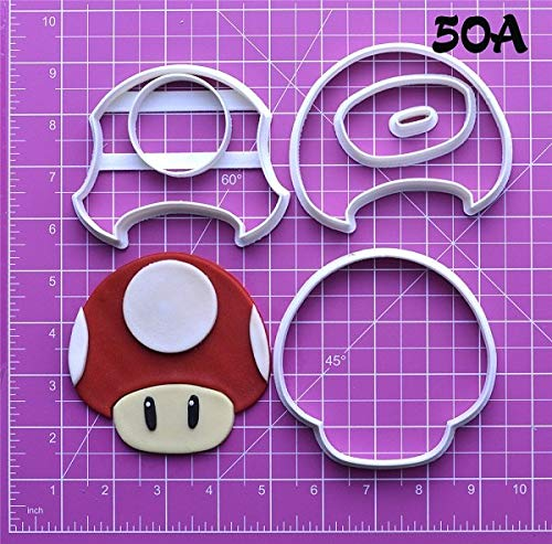 (1 piece Game Super Mario Cookie Cutter Set Custom Made 3D Printed Fondant Cupcake Top Mould Cake Decoration Tools Super Mario Cutter)