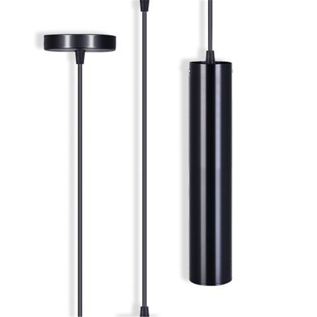 TOOGOO Black modern minimalist cafe chandeliers warm white led restaurant COB spotlights long tube hanging lamp bar table cylindrical mounted chandelier by Toogoo (Image #3)