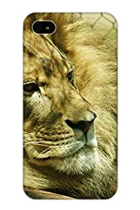 Ideal Resignmjwj Case Cover For Iphone 4/4s(Animal Lion), Protective Stylish Case