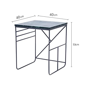 Amazon.com: Tables YNN Side Marble Coffee Wrought Iron End ...
