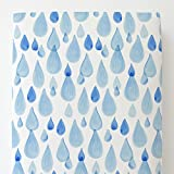 Carousel Designs Blue Watercolor Raindrops Toddler Bed Sheet Fitted