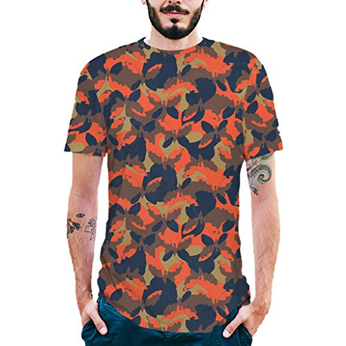 WOCACHI Tops for Mens, Fashion Mens Splash-Ink 3D