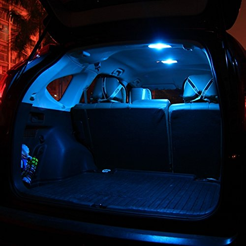 Partsam 2006 2012 Honda Civic Coupe Sedan Ice Blue Interior Led Lights Package Kit Gift Tool