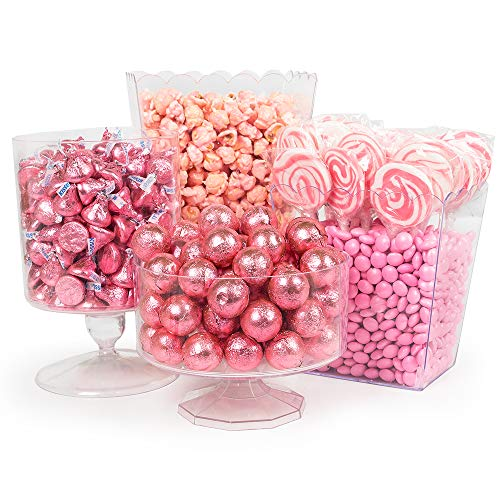 Pink Candy Buffet Supplies (Approx 8lbs) - Pink Candy Bar Supplies - Free Cold Packaging -