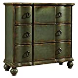 antique chest of drawers Pulaski DS-P017068 Classic New England Distressed Accent Drawer Chest Green