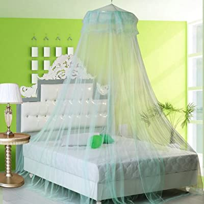 Housweety New Round Lace Curtain Dome Bed Canopy Netting Princess Mosquito Net