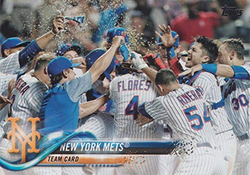 New York Mets 2018 Topps Complete Mint 25 Card Team Hand Collated Set with Jacob deGrom, Noah Syndergaard and David Wright Plus