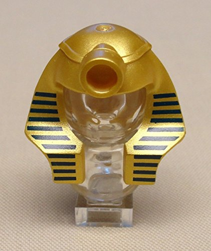 [x1 NEW LEEGO Mummy Pharaoh Minifig Headgear Headdress Hat METALLIC GOLD] (Pharaoh Headdress)