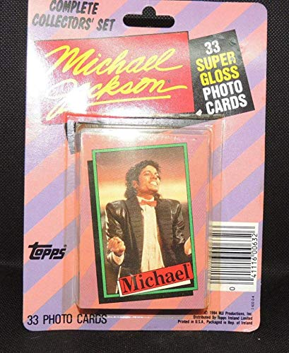 Jackson Card Trading - Michael Jackson 1984 Topps Series One 33 Card Set (Factory Sealed Set)