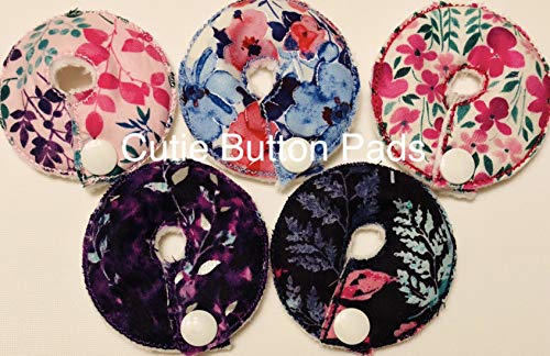 Cutie Button Pads G-j Tube / Enteral Feeding 5 Pack Flowers) (2.5, Flowers 5)