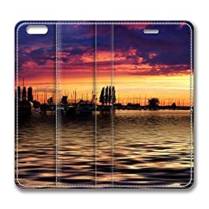 iPhone 6 4.7inch Leather Case, Nature Landscape Sun And Sky 83 Personalized Protective Slim Fit Skin Cover For Iphone 6 [Stand Feature] Flip Case Cover for New iPhone 6