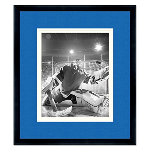 Sports Frames Tampa Bay Lightning Black Wood Picture Frame with Lightning Triple Mat Made to Display 8