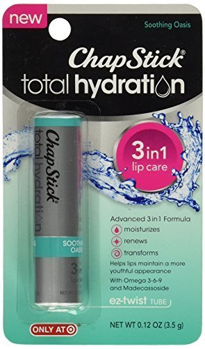 Cheap ChapStick Total Hydration 3-in-1 Lip Care Soothing Oasis 0.12 oz (Pack of 12)