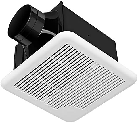 SAILFLO 10 Inch Exhaust Shutter Fan 2-Way Linkage Blower 470 CFM Strong Reversible Airflow Wall Mounted Ventilation Fan for Vents Attic Kitchen Bathroom Basement 10 Diameter Propeller-14 14 Panel