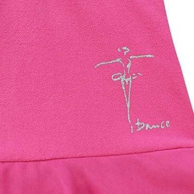 FEESHOW Girls Gymnastics Camisole Leotard with Chiffon Wrap Skirt Ballet Tutu Dress Dance wear Outfit