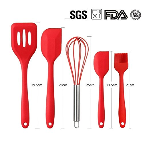Dream 39 s story silicone cooking utensils set of 10 pieces for Kitchen set node attributes