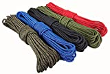 #10: FMS Premium Polyester Accessory Cord by Ravenox | Super Strong 16-Braid Rope for Outdoor Recreation | Pre Cut 4-6mm Diameters x 25 to 1000 Feet Lengths (5 Colors) Made in the USA