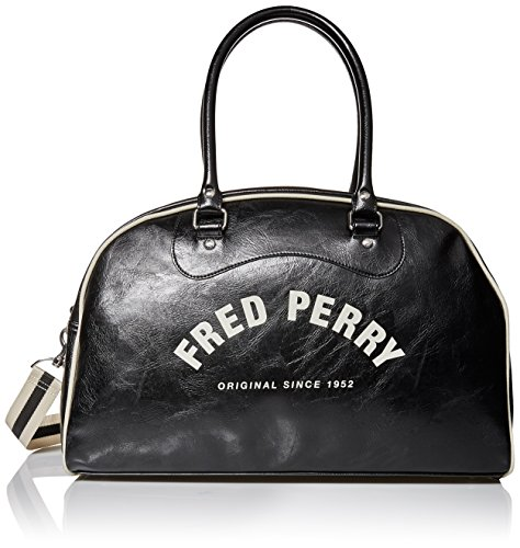 Negro Hombre Vintage Holdall Negro Fred Perry qZXgB6nqxC