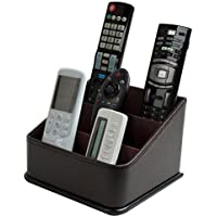 JackCubeDesign Remote Control Holder, TV Remote Caddy Organizer, Storage Controller with 3 Spacious Compartments(Brown) - MK122