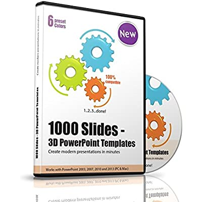 1000 Slides - 3D PowerPoint Templates, 1 CD-ROM