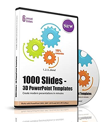 Amazon.Com: 1000 Slides - 3D Powerpoint Templates, 1 Cd-Rom