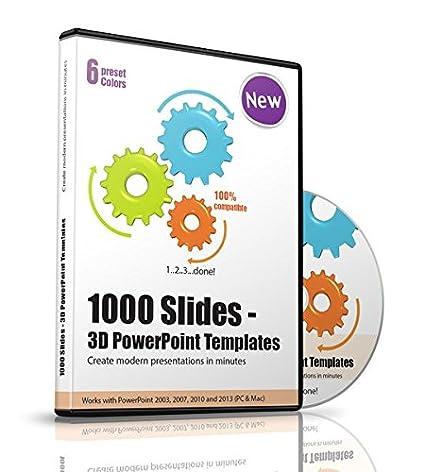 Amazon 1000 slides 3d powerpoint templates 1 cd rom toneelgroepblik Gallery