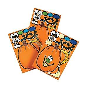Best Epic Trends 51ZReKyG8EL._SS300_ Make A Pumpkin Stickers (1 DOZEN) - BULK