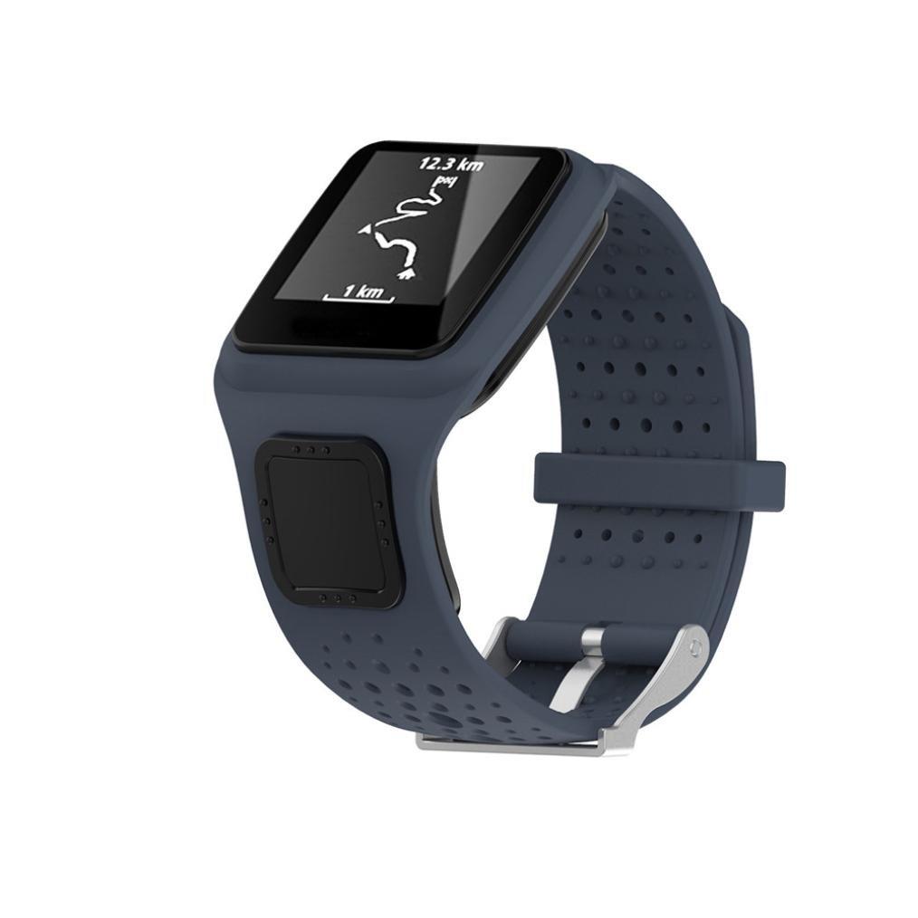 シリコン時計ストラップ、RTYOu ( TM )耐久性交換用シリコンバンドストラップfor TomTom Runner Cardio GPS Watchスポーツ グレー グレー B077PSWKCY
