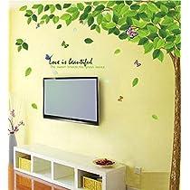 Decals Design 'Bestselling Leaves Tree' Wall Sticker (PVC Vinyl, 90 cm x 60 cm)