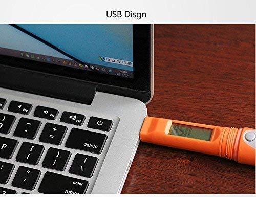 10Packs Elitech RC-51 PDF Temperatura USB Registrador de datos Registrador Puntos de prueba Estilo de la pluma 32000 Puntos de registro