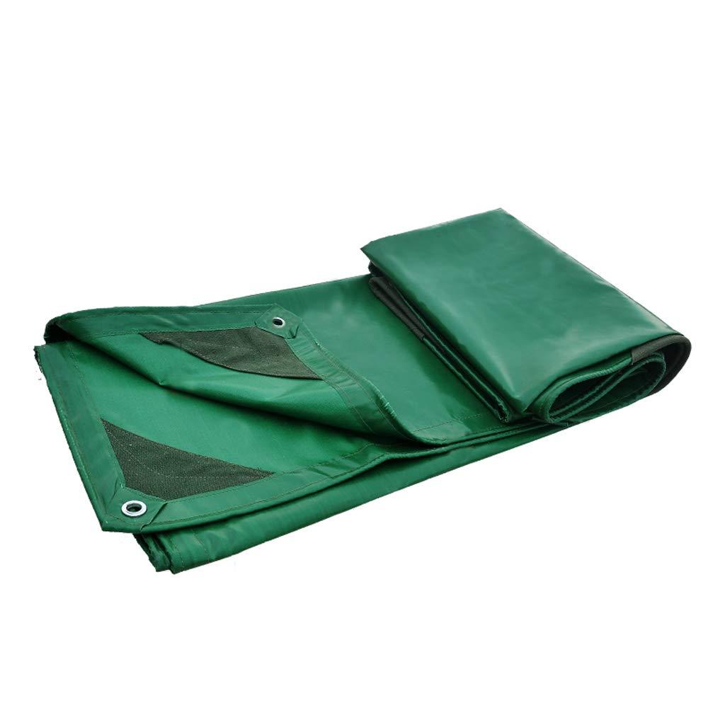 ターポリン、厚いPVCマルチファンクション複数のサイズ、防水日焼け止め屋外、緑 (サイズ さいず : 4m*5m) 4m*5m  B07J6QY974