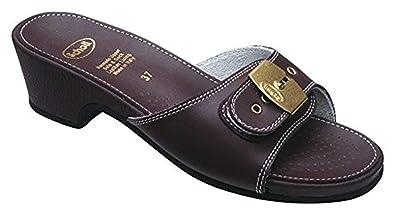 200865b866542c Scholl Allure Cuir Sandales Haut - Bordeaux: Amazon.fr: Chaussures ...