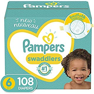 Baby Diapers Size 6, 108 Count - Pampers Swaddlers, ONE MONTH SUPPLY (Packaging May Vary)