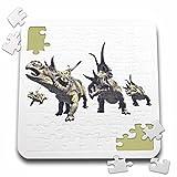 3dRose Boehm Graphics Dinosaur - Diabloceratops Herd Charging - 10x10 Inch Puzzle (pzl_282249_2)