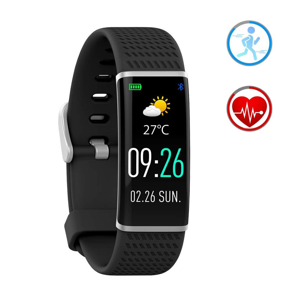 Smartwatch Fitness Tracker con Cardiofrequenzimetro Bluetooth Braccialetto Activity IP67 Impermeabile Pedometro sonno monitor Compatibile con Android e IOS phone (Schermo a Colori) product image