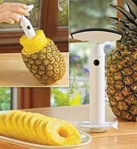 Fruit Pineapple Corer Slicer Peeler Cutter Parer Kitchen Easy Tool Kit - White