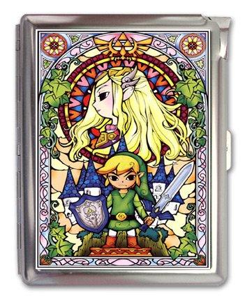 The Legend of Zelda Cigarette Case Lighter or Wallet Business Card - Cigarette High Quality Case